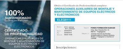 CP Operaciones Auxiliares de Montaje y Mantenimiento de Equipos Eléctricos Y Electrónicos