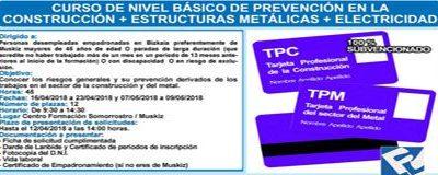Curso de Nivel Básico de Prevención en la Construcción + Estructuras Metálicas + Electricidad
