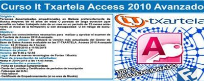 Curso de Informática IT TXARTELA – ACCESS 2010