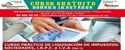 Curso Práctico de Liquidación de Impuestos: Sociedades, I.R.P.F., e I.V.A.